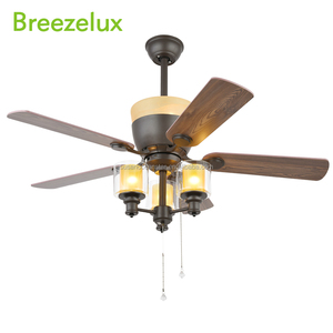 Indoor Decorative 52 inch ceiling fan 3 Light suspended ceiling lighting