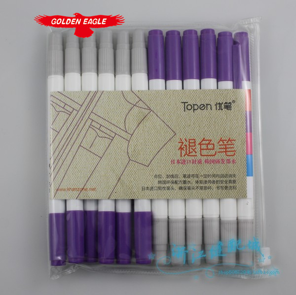 Japan and South Korea gifted pen fade gas one Purple one Removal consumption pen double heads hydrolysis T stitch