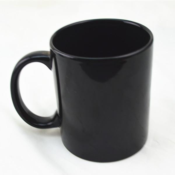 Plain Black Coffee Mug Ceramic