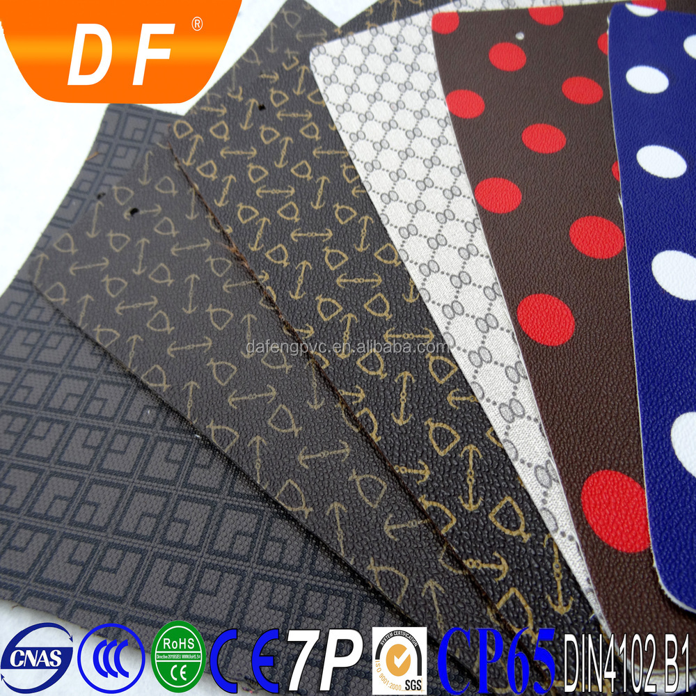 1.0mm~1.2mm thick bags leather PVC leather with colorful edge for bags
