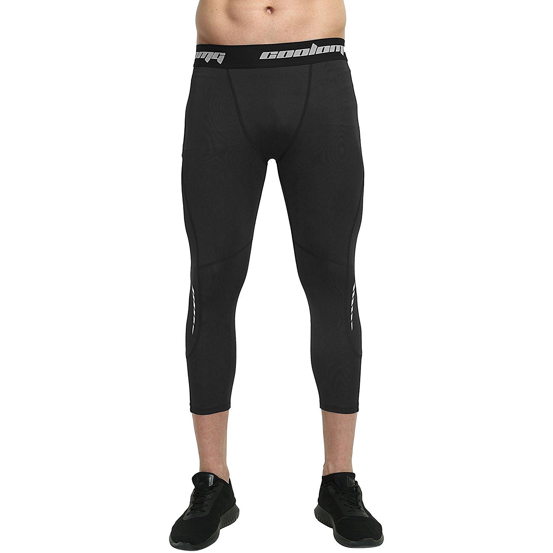 d2d49bfa3ea98 Get Quotations · COOLOMG Compression Pants Running Tights 3/4 Tights Capri  Pants Leggings 20+ Colors/