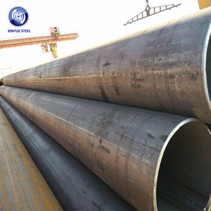 ASTM 252 A572 LSAW black steel asian tube for piling