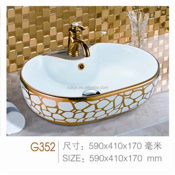 Warna Keramik R Mandi Sink Emas Wash Basin Desain Di Ruang Tamu