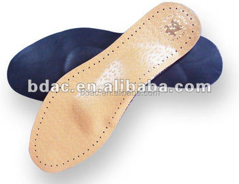 daily use comfort leather latex arch insole