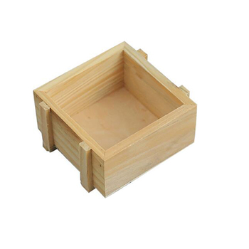 Free Sample Creative Small Square Wooden Desktop Multi-function Finishing Square Cheap Decorative Wooden Gift Box