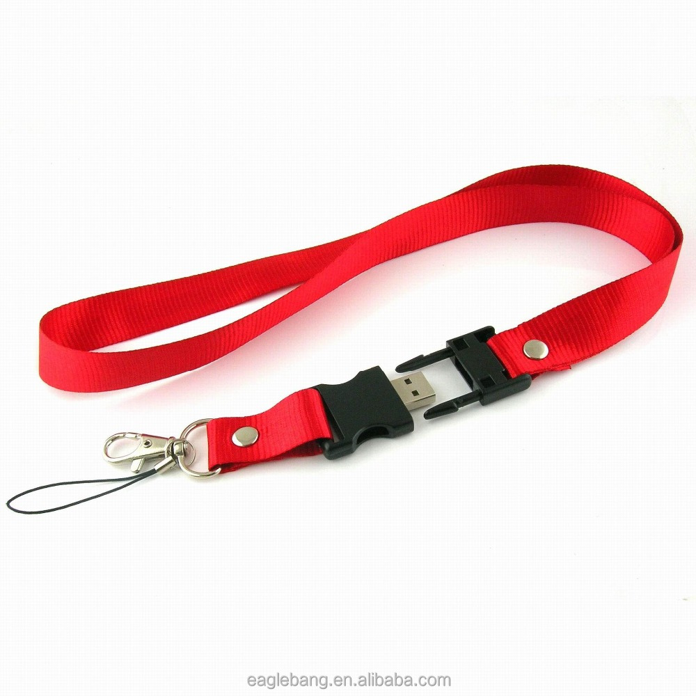 Promotional neck strap usb flash drive lanyard/lanyard usb cord key chain