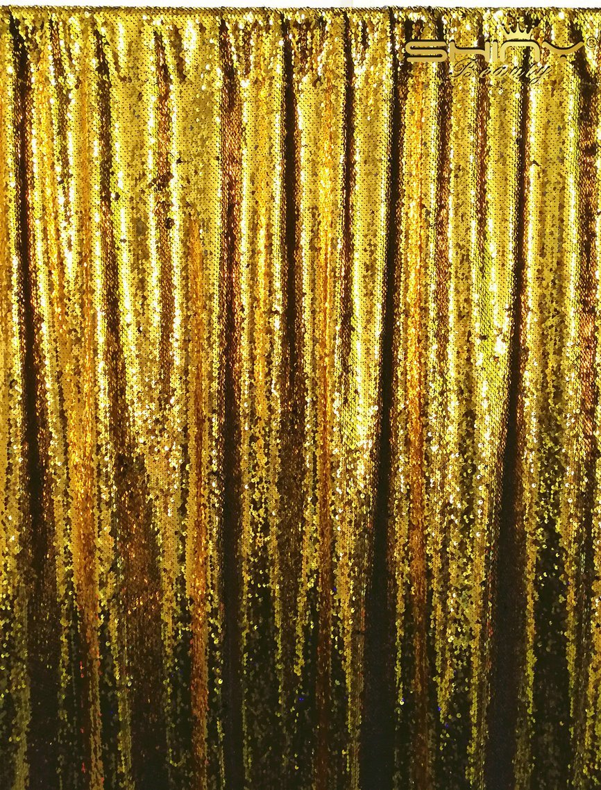 ShinyBeauty Matte&Gold-Mermaid-Sequin Backdrop-6FTx6FT,Sparkyly Sequin Fabric Curtain Backdrop,Perfect for Party/Wedding/Event/Prom/Birthday
