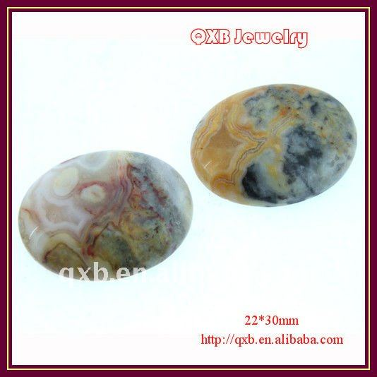 oval crazylace agate gemstone cabochon