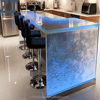 White glass kitchen cabinet countertops