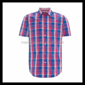 Hot sale bright color see through shirts with short sleeves
