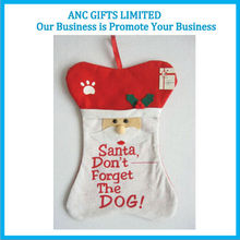 100% Polyester felt christmas decoration promotional santa stocking