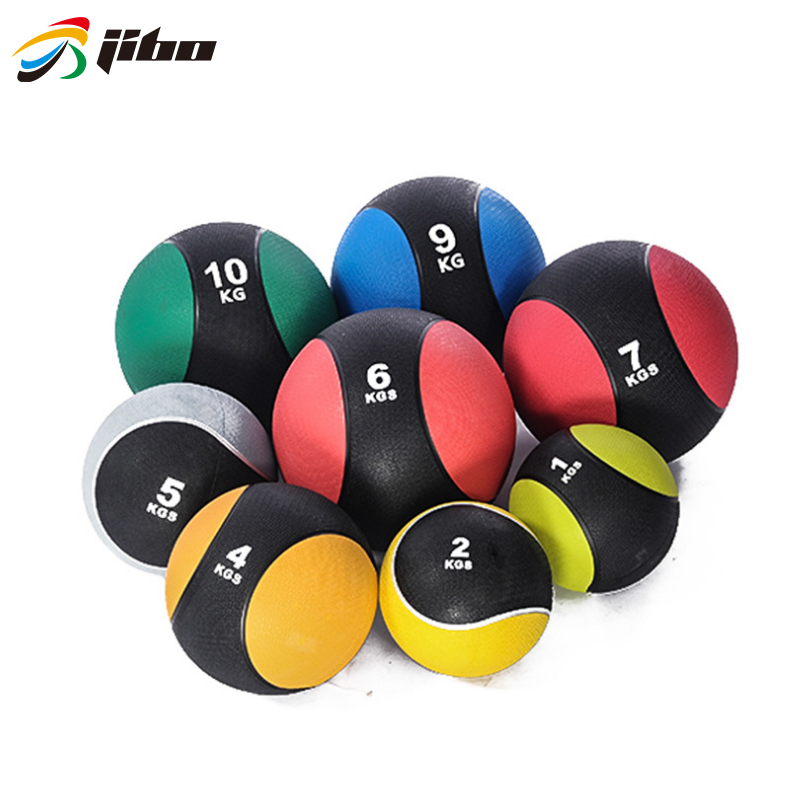 Customization Cross Fitness Rubber Solid Medicine Ball For Gym Use
