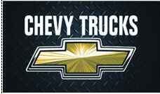 Black Chevy Trucks flag Chevrolet Chevy Trucks banner Durable Polyester Banner Chevrolet Chevy Trucks flags 3×5 ft