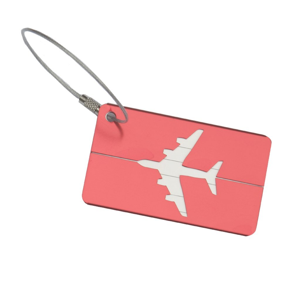 NUOLUX Baggage Suitcase ID Tag Luggage Tags with Steel Cable Wire