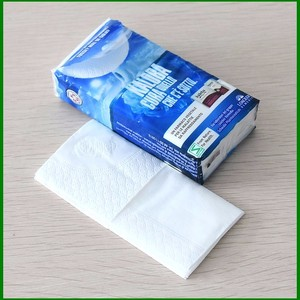 Promotional 100% wood pulp embossed Pocket Tissue / Cheap White Pocket Tissue