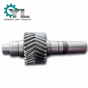 Steel Plant OEM AISI 4140 Forging Double Helical Pinion Shaft