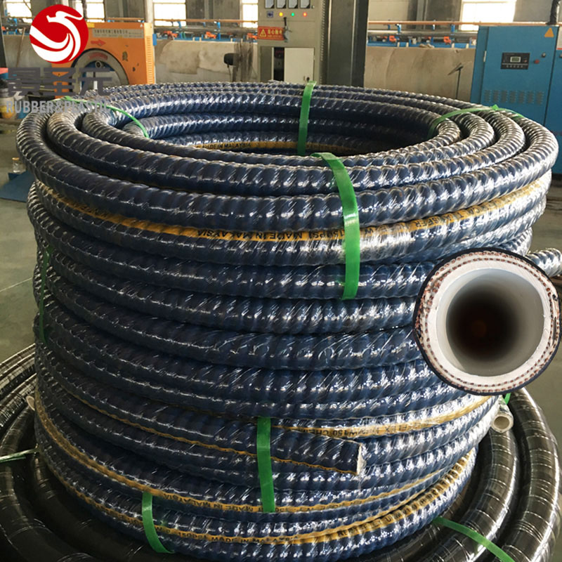 1,2,3,4 inch Flexible strong nitric acid alkali neoprene UHMWPE Chemical Rubber Hose for all strong corrosive liquids