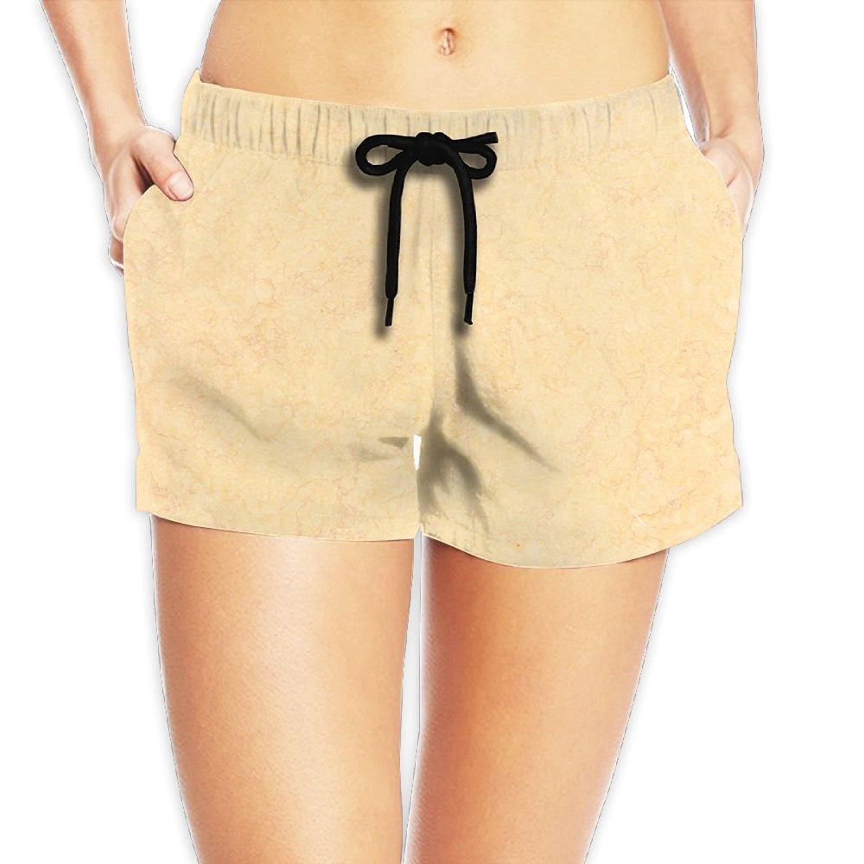 fd1f9fe898 Get Quotations · Dottline Beach Volleyball Shorts, Pink Beach Shorts For  Women, Blond Marble Prints, Summer