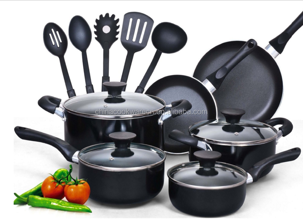 Unique kitchen ware nonstick cookware set with lid
