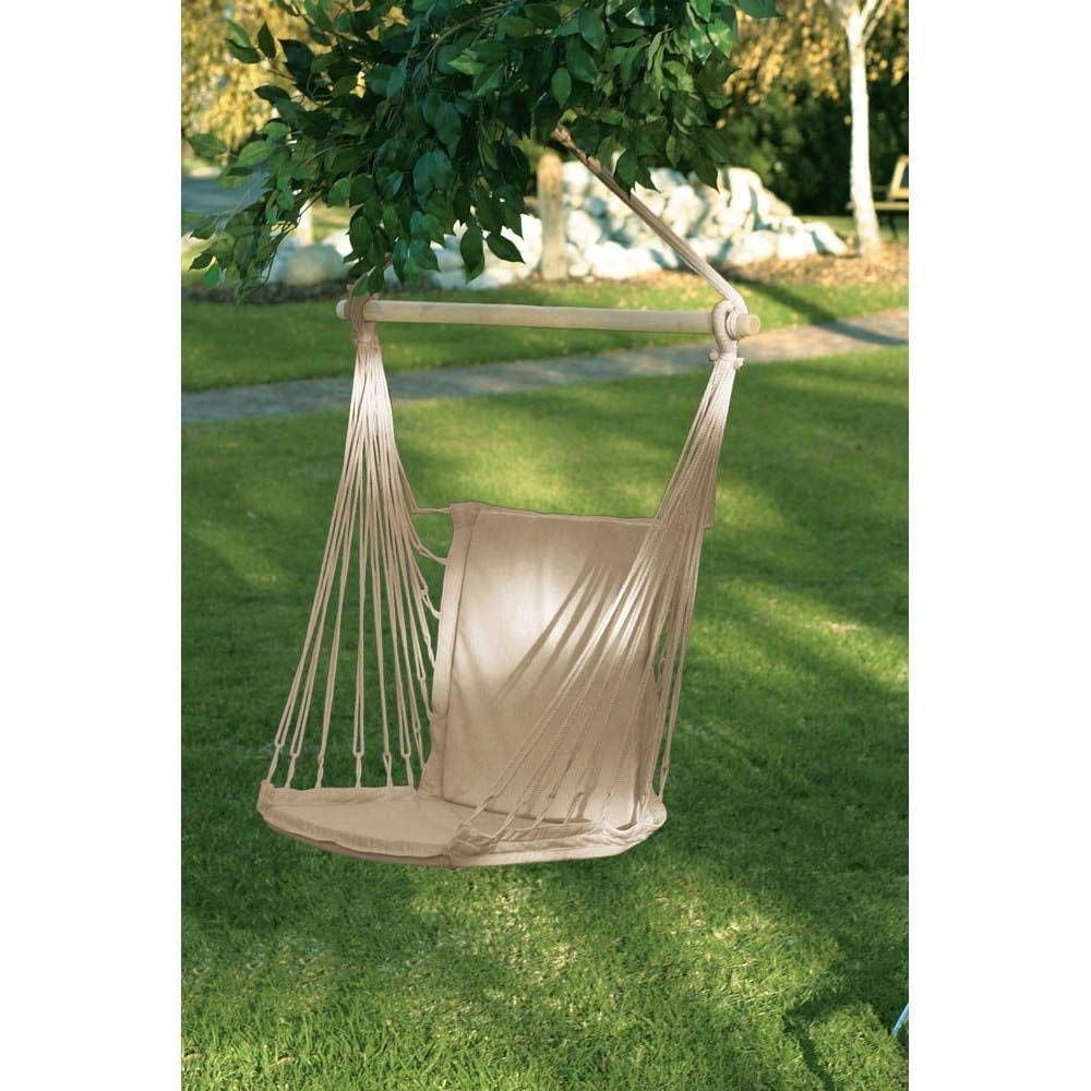 BESTChoiceForYou Hammock Chair Espresso Hued Woven Rope Hanging Swing Outdoor Rope Air Solid Sit Outdoor