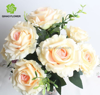 pretty wholesale fake plastic silk rose flowers artificial