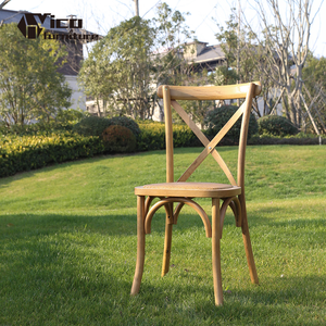 wholesale nature wooden color wedding dining events restaurant wood cross back chair with best price