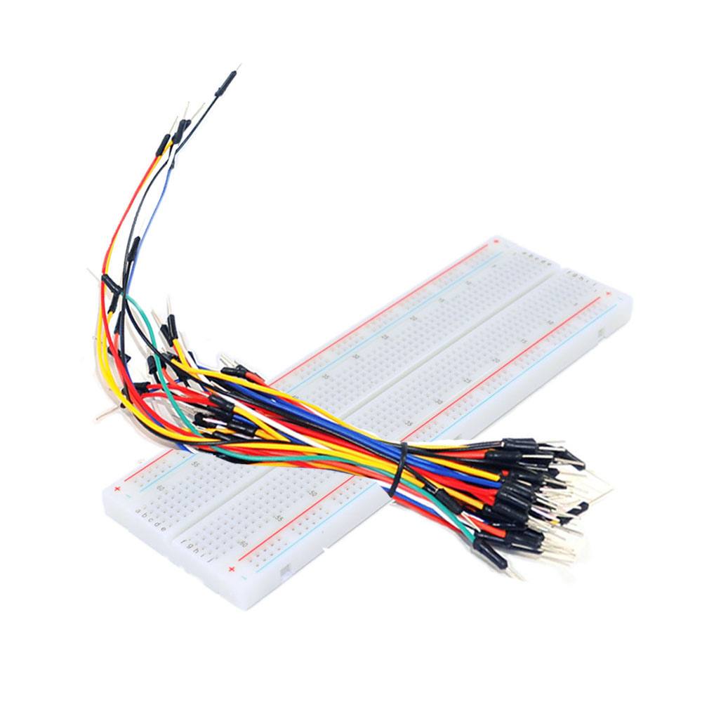 KEYES 830 <strong>hole</strong> high quality breadboard +65 colorful bread line kit
