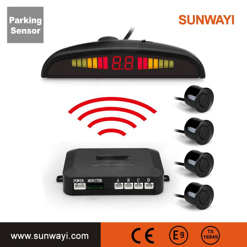 Best Selling Factory Price Electromagnetic Wireless Car Parking Sensor 4 Sensors Rear View Parking Assist System