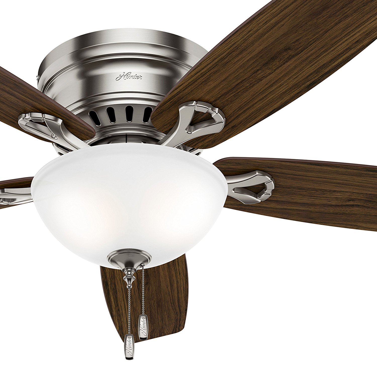 Shop Hunter 4light Antique Pewter Ceiling Fan Light Kit At Lowescom Cheap Low Profile Lowes Find Get Quotations 52 Inch In Brushed Nickel With Bowl Led