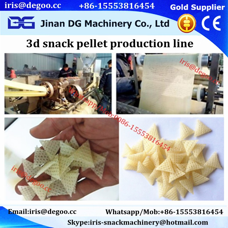 Double screw pani puri 3d papad machines manufacturer