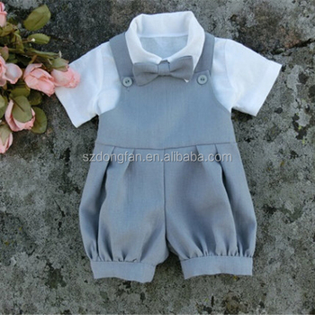 98ce54424ad9 Baby Boy Romper Linen Baby Wedding Outfits Boys Formal Suit - Buy ...