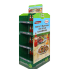 Cardboard Advertizing Display Shelf Australia Style BBQ Spice Display Shelf Custom