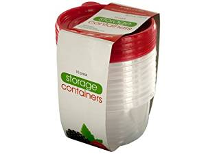 Bulk Buys Round Stackable Food Storage Containers - Pack of 8