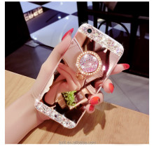 3D stylish women silk flower deco pearls phone case cover for iphone 7 7plus 5 SE 6 plus note 2 3 4 5 S3 4 5 6 edge plus 7 edge