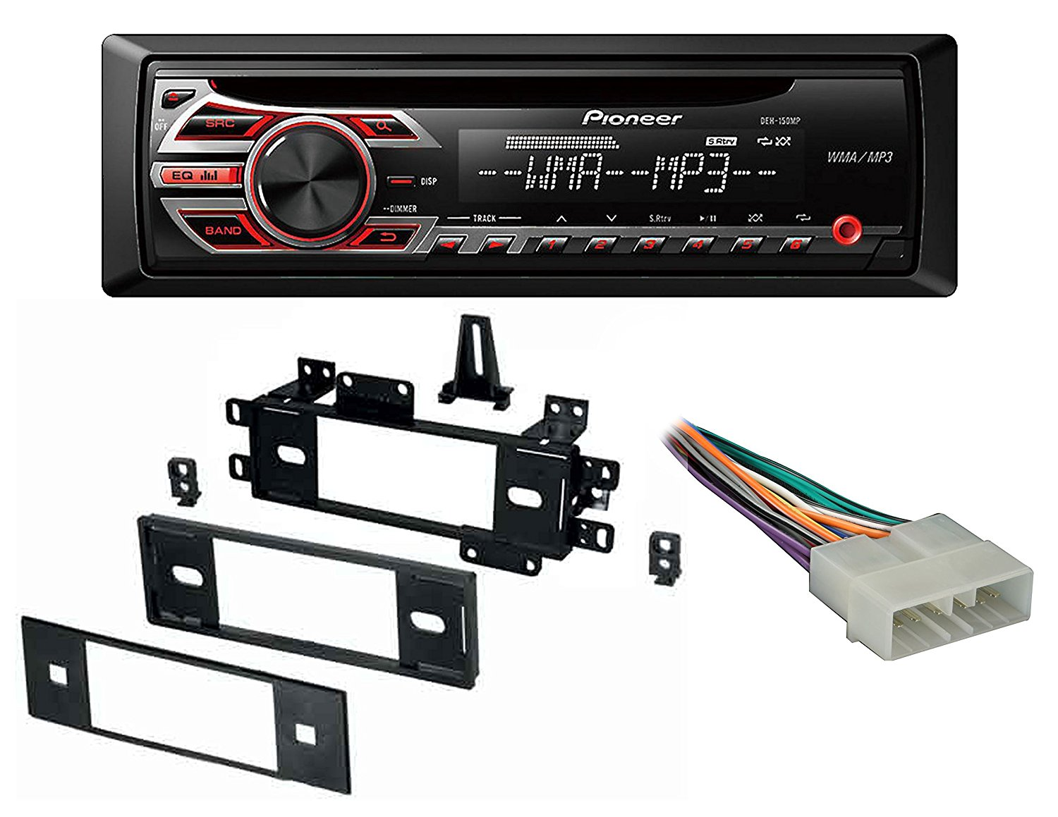 Get Quotations · Pioneer Car Radio Stereo CD Player Dash Install Mounting  Kit Harness Antenna