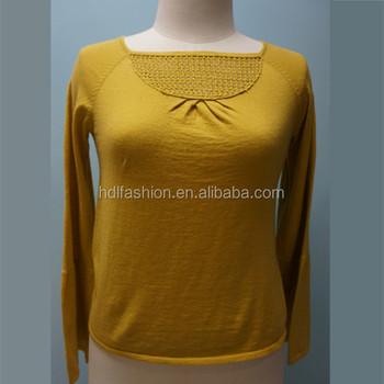 Custom Long Sleeve Fashion Ladys Boat Neck Sweater Buy Ladys