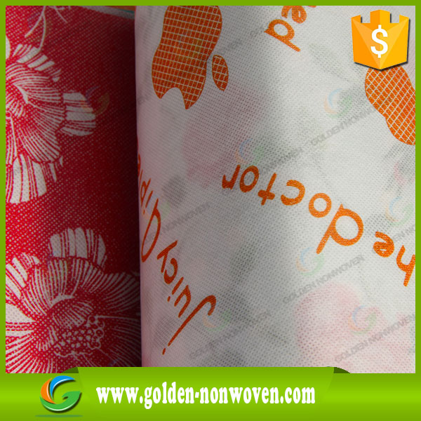 pp nonwoven printed laminated pe fabric/spunbonded non woven fabric heat press transfer printing/Import&Export nonwoven printed