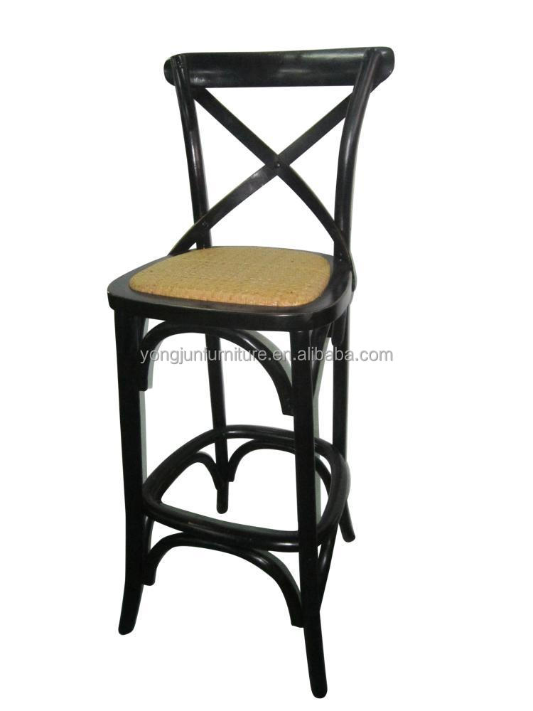 Hot Sale Bar chairsCross back Bar Stool High Chair Wood Bar Chair – Bar High Chair