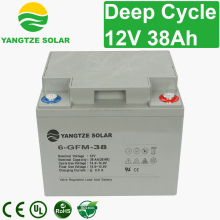 deep cycle 6fm38 12v38ah lead acid battery