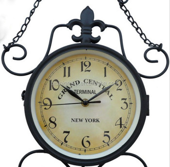 cast iron antique double sided wall clock bf10m704