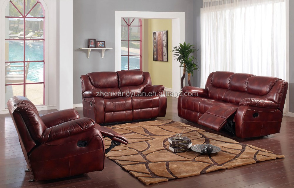 Sf3606 3 Seater Recliner Leather Sofa Lazy Boy Leather Recliner Sofa