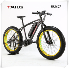 2015 tailg Latest Off Road White Bicycle 26 inch Electric Bike 36V 350W Mid-Drive Li-ion Battery LCD Display BS2607