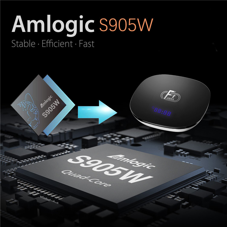 Amlogic S905W A95X F1 Android TV box 2gb 16gb smart 4k tvbox google set top box