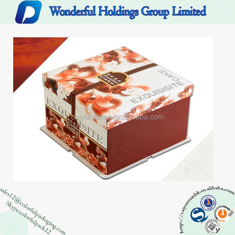Custom Printed White Cardboard Birthday Cake Packaging Box Buy