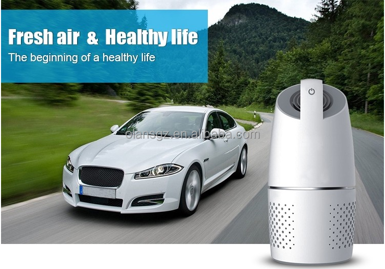 Release negative ions/New product Car air cleaner with USB / powerful functions/Sterilization and disinfection/Energy saving
