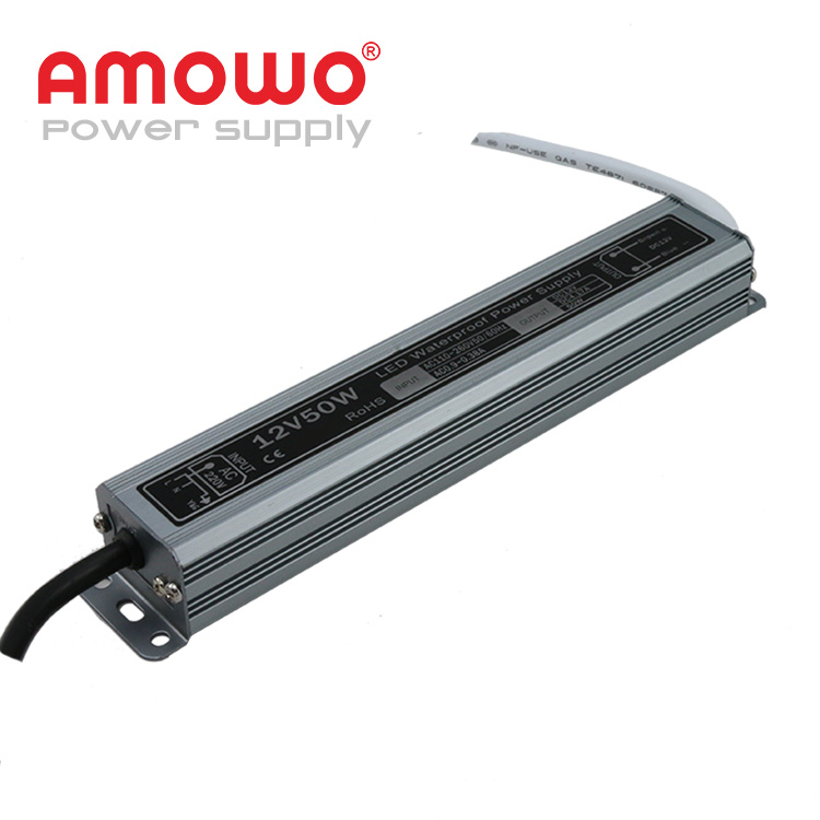 50w IP67 4.16a waterproof led driver 4.16a switch power supply 12v 3a