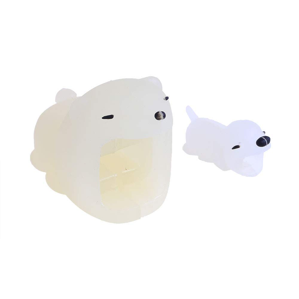 ❤️Ordee❤️ Luminous Cable Line Bite for iPhone Cable Cord Animal Phone Accessory Protects Cute Protector (B)