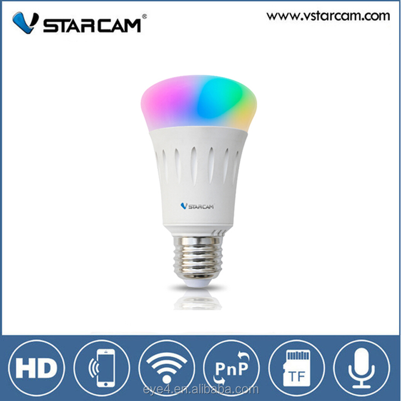 Vstarcam Wifi IP lamp E27 base remote control smart home hidden camera light bulb