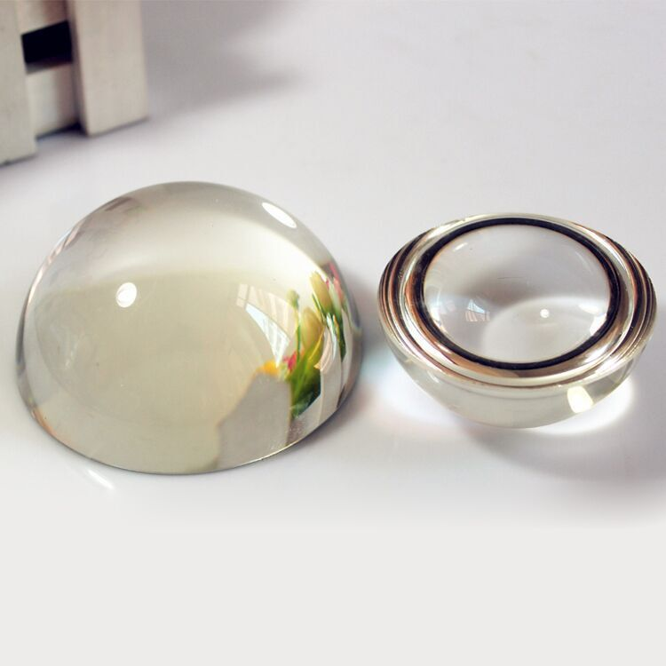 70mm transparent dome paperweight glass ,magnifying paper weight