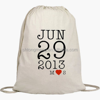 Cotton Drawstring Bags 8oz Unbleached Natural Cotton Canvas ...